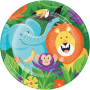 Round Jungle Safari Dinner Plates 22cm Pack of 8
