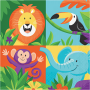 Jungle Safari Lunch Napkins Pack of 16