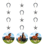 Horse and Pony String Cutout Hanging Decorations 57cm Pack of 3