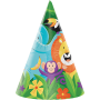 Jungle Safari Cone Party Hats 16cm x 11cm Pack of 8