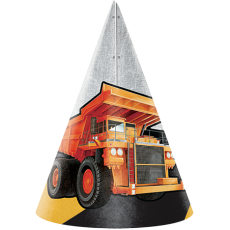 Big Dig Construction Party Hats Pack of 8