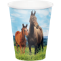 Horse and Pony Paper Cups 266ml Pack of 8