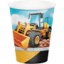 Big Dig Construction Paper Cups 266ml Pack of 8