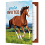 Horse and Pony Foldover Invitations 10cm x 12cm Pack of 8