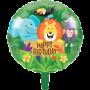 Round Jungle Safari Happy Birthday Foil Balloon 45cm