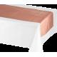 Metallic Rose Gold Bridal Shower Rose All Day Table Runner 36cm x 213cm