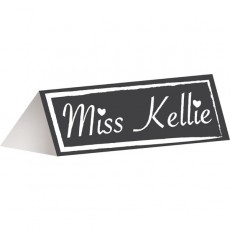 Chalkboard Misc Accessories 4cm x 9.5cm Place Cards Pack of 12