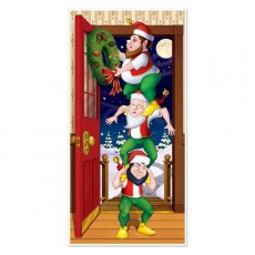 Christmas Elves Door Decoration 76cm x 152cm