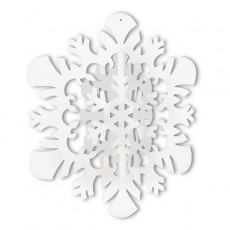 White Christmas 3D Snowflake Hanging Decoration