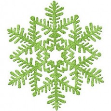 Green Christmas Glitter Snowflake Hanging Decoration 16cm