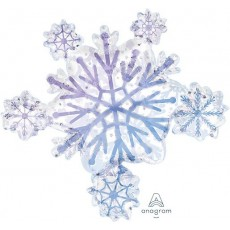 Christmas Party Decorations - Shaped Balloon Super Snowflake Cluster