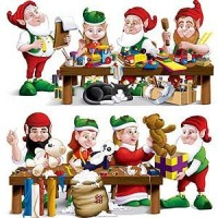 Christmas Scene Setters 78cm x 1.5m Santa's Workshop Insta-Theme Pack of 2