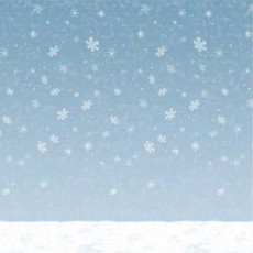 Christmas Winter Sky & Snow Backdrop Scene Setter 1.2m x 9.1m