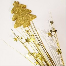 Gold Christmas Tree Foam Spray Spangle