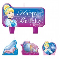 Cinderella Candles Pack of 4
