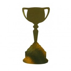 Gold Trophy Cups Cutouts 200mm Pack of 12