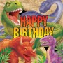 Dinosaur Dino Blast Happy Birthday Lunch Napkins Pack of 16