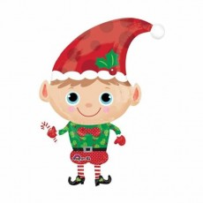 Christmas Party Decorations - Shaped Balloon SuperShape Christmas Elf