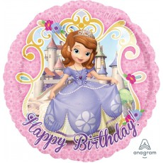 Sofia The First Foil Balloons 45cm Happy Birthday!