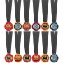 Disney Cars Awards Assorted Colours Cars 2 Formula Racer Medals Pack of 12