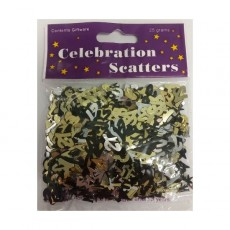 21st Birthday Confetti 25g Gold, Silver & Black Single Pack