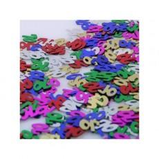 70th Birthday Confetti 25g Multi Coloured Single Pack