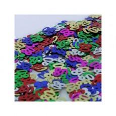 80th Birthday Confetti 25g Multi Coloured Single Pack