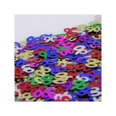90th Birthday Confetti 25g Multi Coloured Single Pack