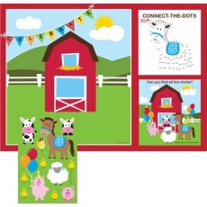 Farmhouse Fun Party Games 25cm x 35cm Placemats Pack of 8