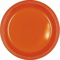 Orange Dinner Plates 23cm Orange Peel Pack of 20