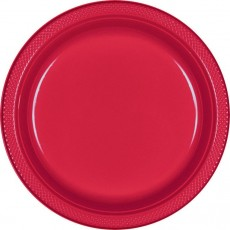 Apple Red Plastic Banquet Plates 26cm Pack of 20