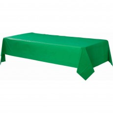 Festive Green Plastic Table Cover 1.37m x 2.74m