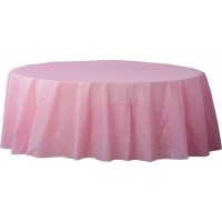 Pink Plastic Table Covers 213cm New Pastel Pink