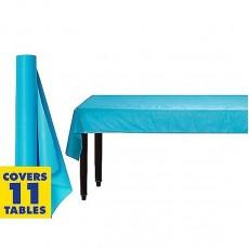 Caribbean Blue Plastic Table Roll 1.22m x 30.48m