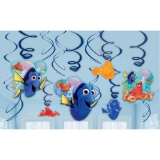 Finding Dory Hanging Decorations 60cm Swirls Pack of 12