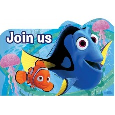 Finding Dory Invitations For 8 Guests Pack of 8