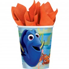 Finding Dory Paper Cups 266ml Pack of 8