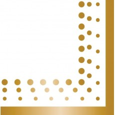 Gold Sparkle & Shine Lunch Napkins 33cm x 33cm Pack of 16