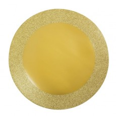 Round Gold Sparkle & Shine Placemats Misc Accessories 35cm Pack of 8