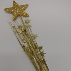 Gold Foam Spray Stars Spangle 61cm