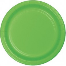 Round Fresh Lime Green Paper Dinner Plates 23cm Pack of 24