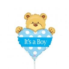Baby Shower - General Foil Balloons Bear & Heart It's a Boy