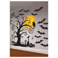 Halloween Party Supplies - Modern Halloween Scene Setter Wall