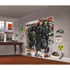 Halloween Zombie Scene Setter Wall Decorating Kits Pack of 32