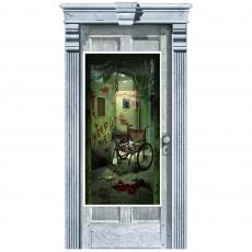 Halloween Asylum Corridor of Doors Door Decoration 1.65m x 85cm