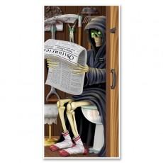 Halloween Grim Reaper Restroom Toilet Door Decoration 76cm x 152cm
