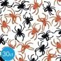 Black & Orange Halloween Spider Ring Favours 4cm Pack of 30