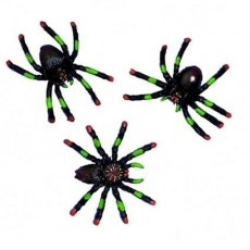 Halloween Party Supplies - Favours - Plastic Spiders