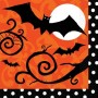 Halloween Frightfully Fancy Lunch Napkins 33cm x 33cm Pack of 36