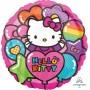 Round Hello Kitty Standard HX Rainbow Foil Balloon 45cm